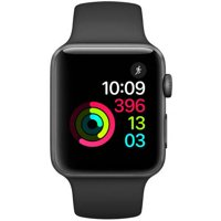 Refurbished Apple Watch - Series 2 - 42mm - Space Gray Aluminum Case - Black Sport Band