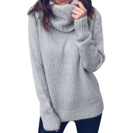 Silk Mock Neck (ZXZY Women Long Sleeve Mock Neck Solid Color Knitwear Tops )
