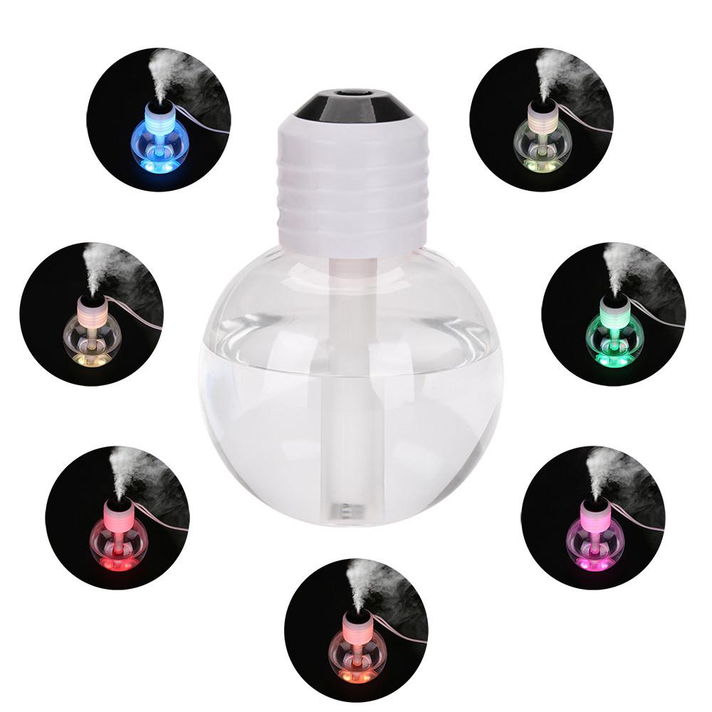 7 Color USB Portable Humidifier Mist Bulb Shape Air Diffuser Purifier Atomizer