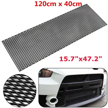 120X40cm(LxW) Black Honeycomb Mesh Grill ABS Plastic Spoiler Bumper Vent Side Vents Hoods Universal ()
