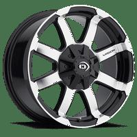 "Vision 413 Valor 16x6.5 5x130 +45mm Black/Machined Wheel Rim 16"" Inch"