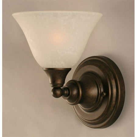85 In Wall Sconce W White Marble Glass Shade