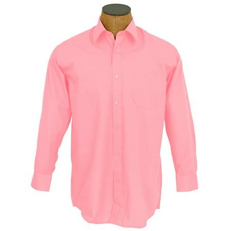 Boys Solid Color Cotton Blend Dress Shirt (Peach Shirt For Boys)