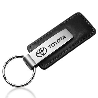 Toyota Black Leather Key Chain