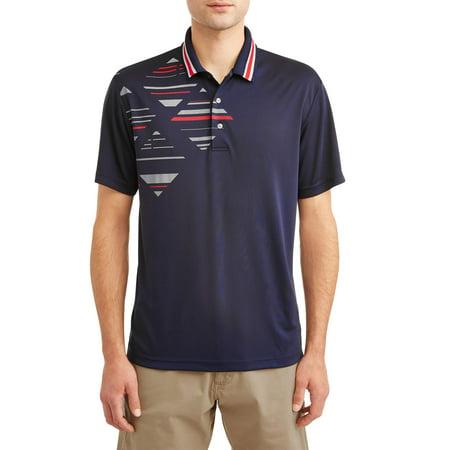 - Men's Performance Short Sleeve Printed Golf Polo Shirt