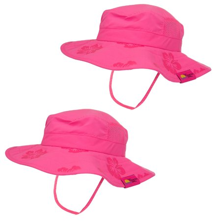 Sun Protection Zone Kids UPF 50+ Safari Sun Hat - Pink (Pack of 2)](Safari Hat Kids)