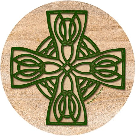 Thirstystone Drink Coasters Set, Celtic Cross