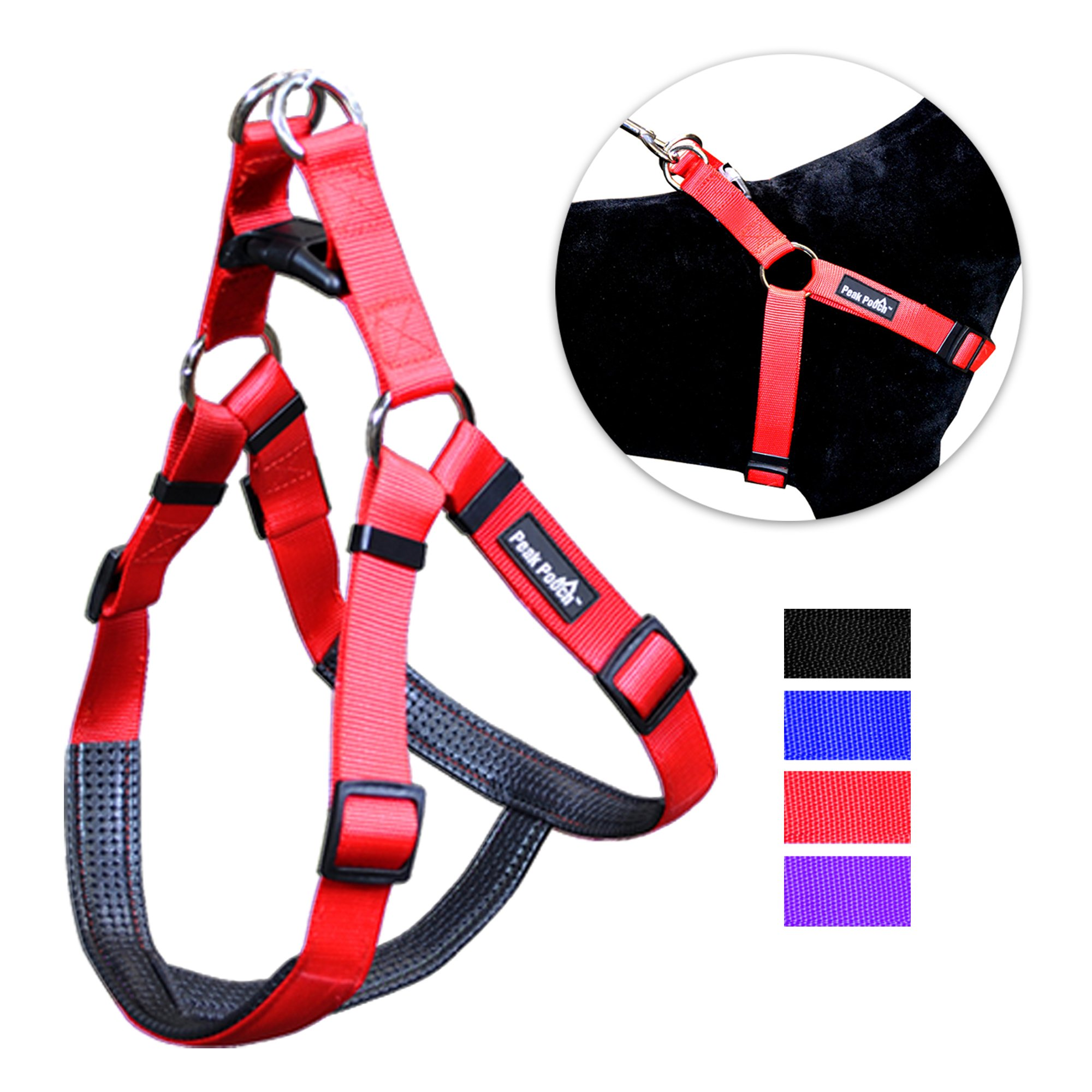 No Pull Padded Comfort Nylon Dog Walking Harness for Small, Medium, and Large Dogs