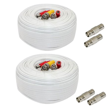 gw security 2 pack 200 feet video power pre made all in one bnc cable cctv camera wire cord with. Black Bedroom Furniture Sets. Home Design Ideas