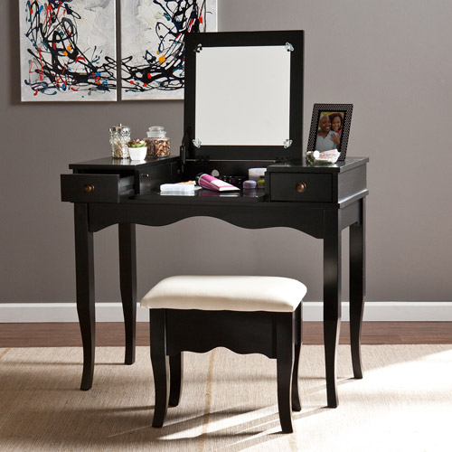 black vanity table vanity set black walmart 28562