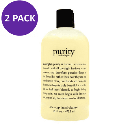 Philosophy Purity Made Simple One Step Facial Cleanser 16oz (2 PACK)