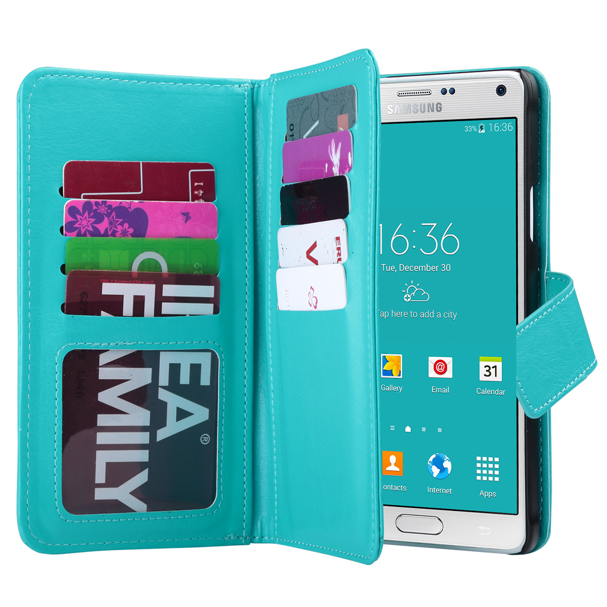 Note 4 Case, Galaxy Note 4 Case, ULAK Galaxy Note 4 Wallet Case,Pu Leather Case Magnet Wallet Credit Card Holder Flip Cover Case Built-in 9 Card Slots & Stand Case for Samsung Galaxy Note 4