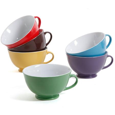 Mr. Coffee Mr. Signature 23.6-Ounce Latte Mugs, Set of 6