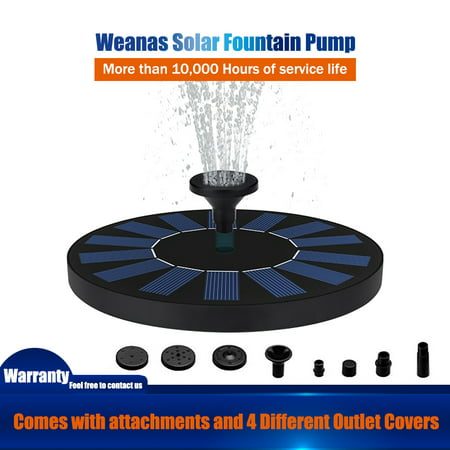 Solar Powered Water Pump (Solar Powered Floating Fountain Pool Water Pump Garden Plants)