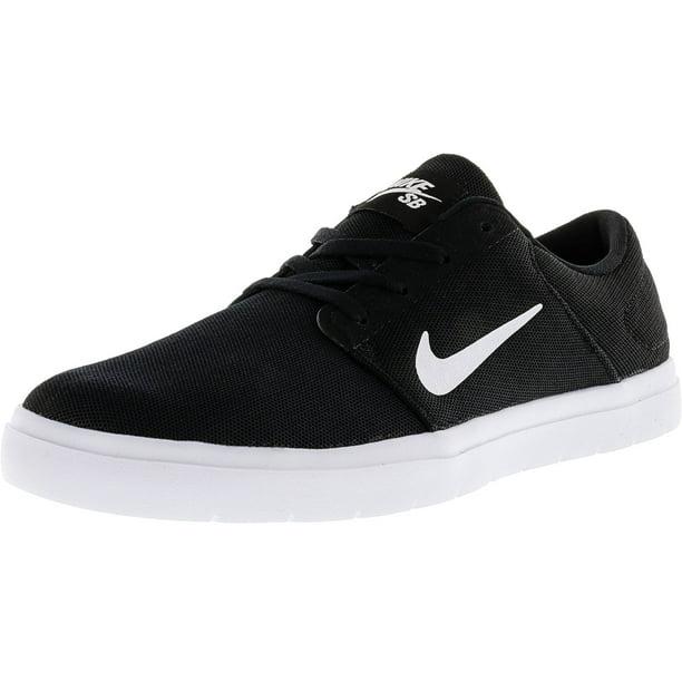 Nike Men's Sb Portmore Ultralight Black / White-Black Ankle-High Skateboarding Shoe - 11.5M