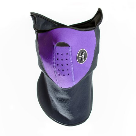 Neoprene Face and Neck Mask - - Purple Face Mask