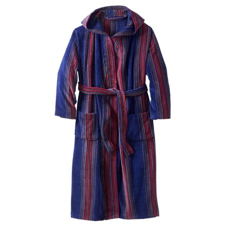 Cotton Terry Velour Robe (Kingsize Men's Big & Tall Terry Velour Hooded Maxi Robe)