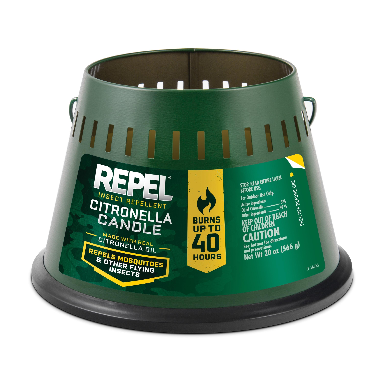 Repel Insect Repellent Citronella Candle, Triple Wick, 20-oz