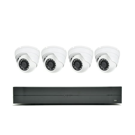 LaView 1080P HD 4 Security Cameras 4CH Home Video Security Camera System W/1TB HDD 2MP Night Vision CCTV Surveillance Kit (Video Camera Security W Speaker)