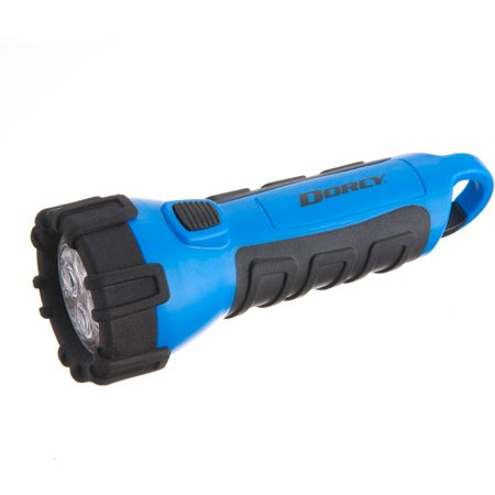 Dorcy 55 Lumen Floating Waterproof LED Flashlight with Carabineer Clip Dorcy, Blue