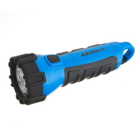 1900 Flashlight - Dorcy 55 Lumen Floating Waterproof LED Flashlight with Carabineer Clip Dorcy, Blue (41-2514)
