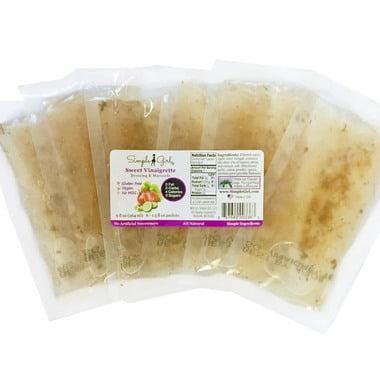 Simple Girl Organic Sweet Vinaigrette Sugar-Free Salad Dressing Single Serves (6 pack) - diet safe, marinade, organic, gluten free,