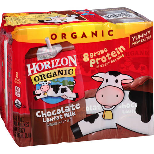 Horizon Organic Chocolate Milk, 8 oz, 6 ct