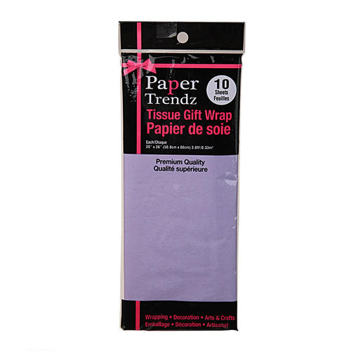 "Tissue Wrapping Paper Lavender 20""x26"" Pack of 10 Sheets - image 1 de 2"