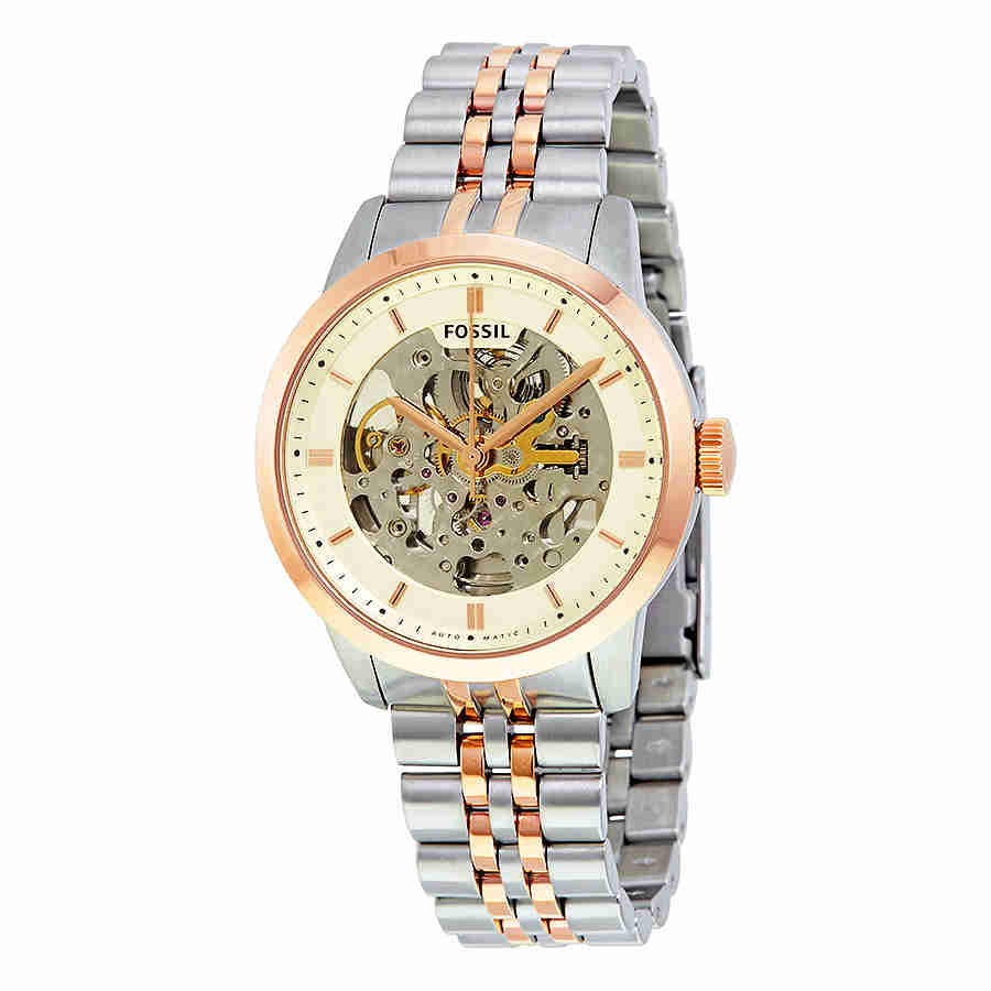 Fossil Townsman Automatic Beige Skeleton Dial Mens Watch ME3075 by Fossil