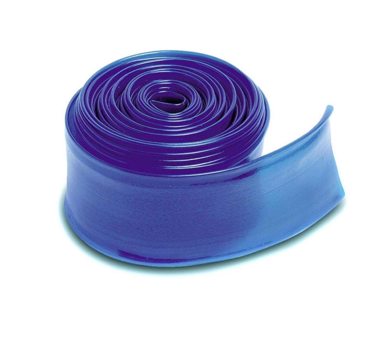 """25' x 1.5"""" Transparent Blue Swimming Pool Filter Backwash Hose"""