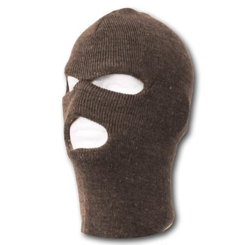 TopHeadwear's 3 Hole Face Ski Mask, Brown by