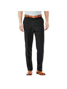 Haggar Men's Cool 18 Solid Flat Front Pant Classic Fit 41114529498