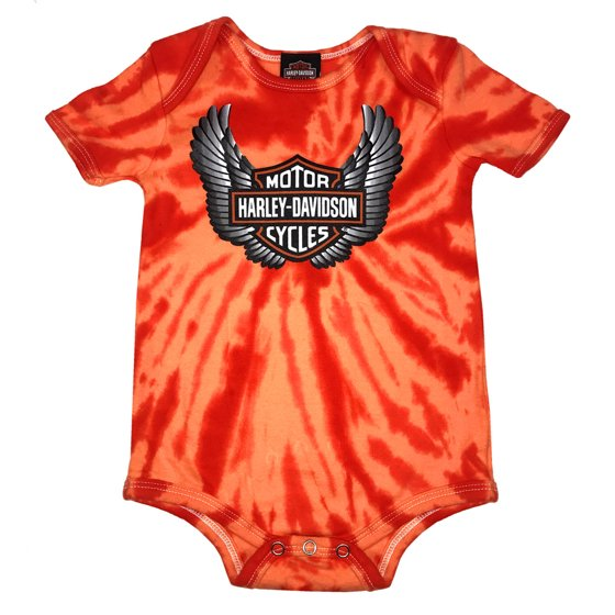 Harley Davidson Baby Clothes Amazing HarleyDavidson Baby Boys' Winged Bar Shield TieDye Creeper