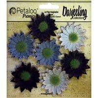 Darjeeling Mini Daisies 1.25 Inch 7/Pkg-Blue