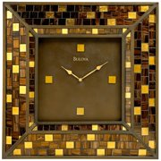 Bulova Alsace Metal and Glass Wall Clock