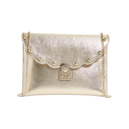 Guess Womens Fall In Love Metallic Studded Clutch Handbag Guess Handbag Pearl