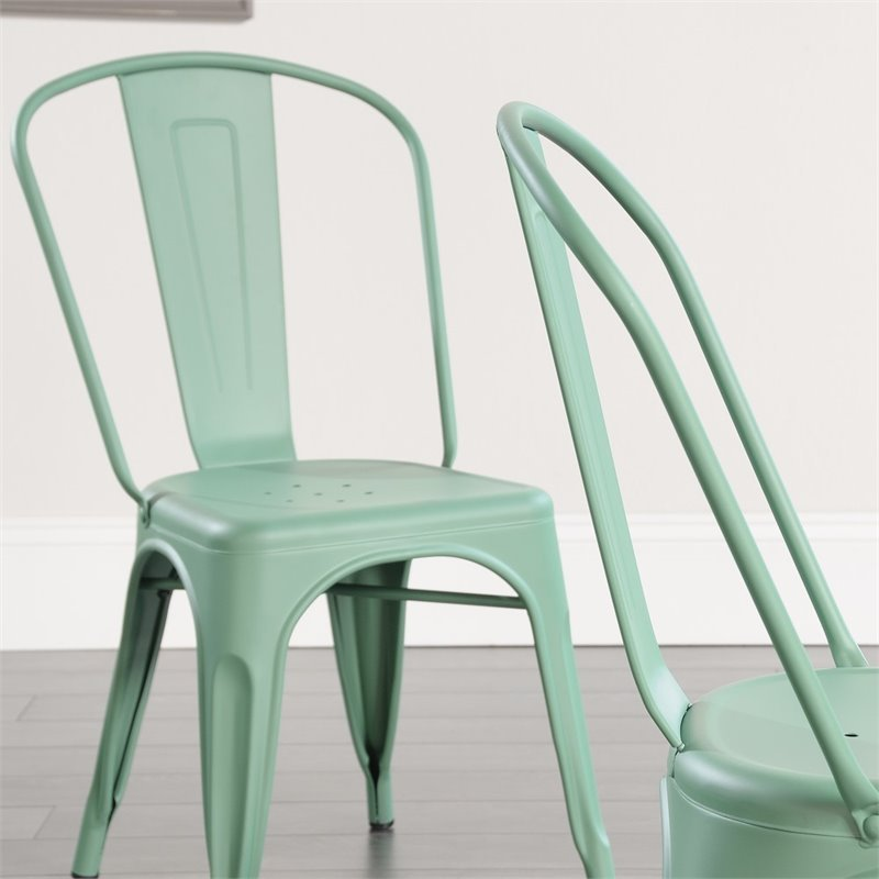Sauder New Grange Cafe Chair in Matte Green (Set of 2) - image 6 de 8