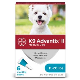 c3f74b6e0867d K9 Advantix II Flea and Tick Treatment for Medium Dogs, 6 Monthly Treatments