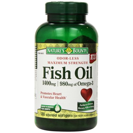 Nature 39 s bounty fish oil 1400 mg 130 softgels for Fish oil 1400 mg