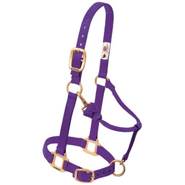 Weaver Leather 35-7035-PU 1 in. Adjustable Chin & Throat Snap Halter - Purple
