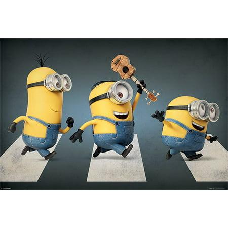 Minions - The Movie - Movie Poster / Print (Stuart, Kevin & Bob - Abbey Road) (Size: 36