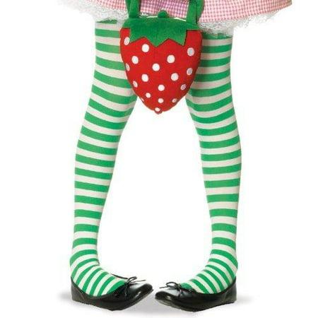 3d5fe41cec8 LegAvenue - Girls Green and White Striped Tights - Walmart.com