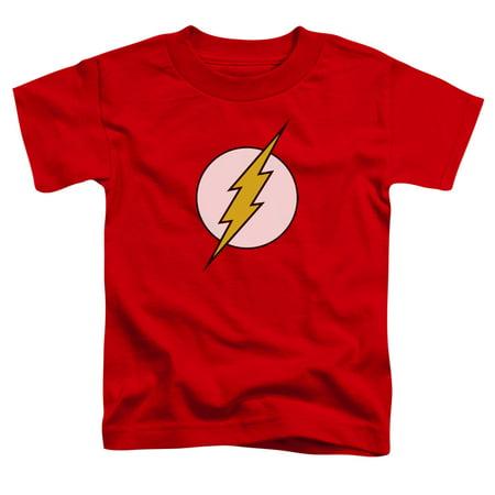 3t Short - Dc Flash - Flash Logo - Toddler Short Sleeve Shirt - 3T
