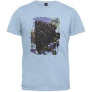 Black Pug Light Blue T-Shirt - 2X-Large