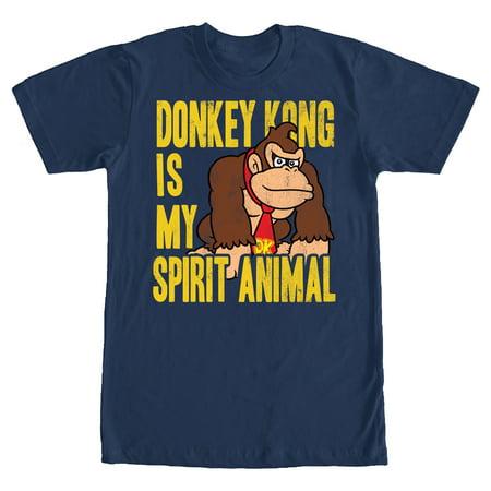 Nintendo Men's Donkey Kong is My Spirit Animal T-Shirt Its On Like Donkey Kong T-shirt