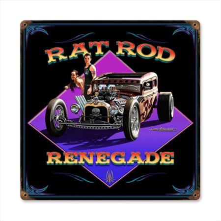 Past Time Signs LG225 Rat Rod Renegade Automotive Vintage Metal