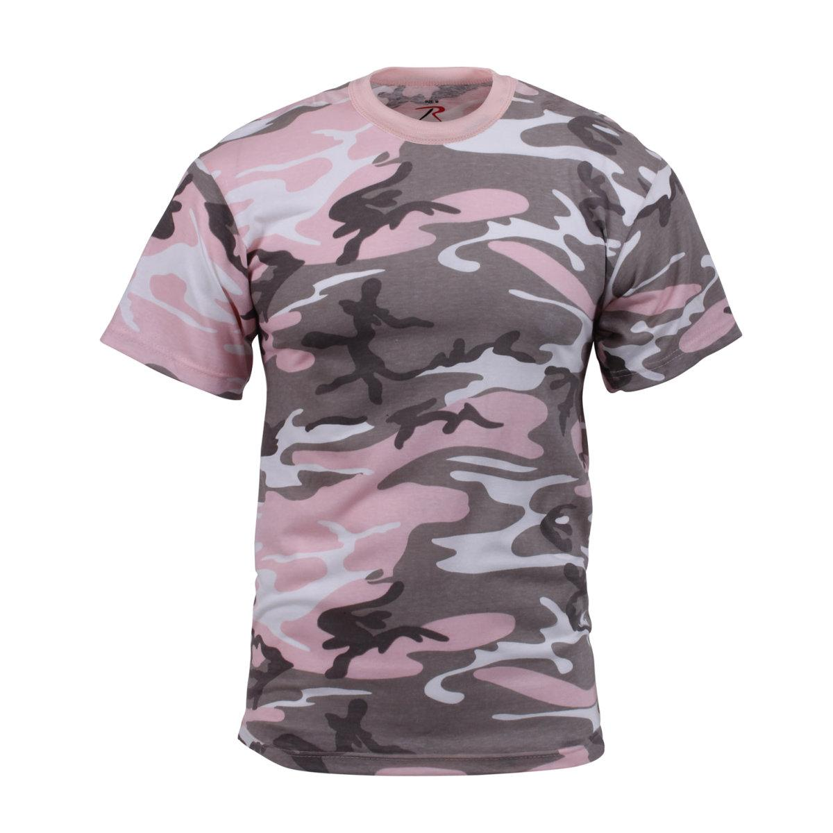 New Mens Subdued Pink Camo T-shirt