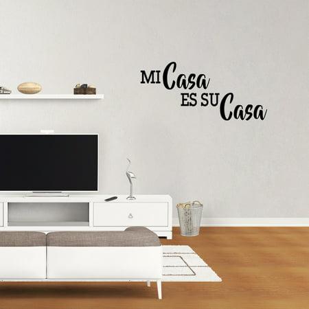 Wall Decal Quote Mi Casa Es Su Casa Vinyl Lettering Calligraphy Words Decor Art Sticker XJ346 ()