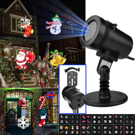 Christmas Decorative Projector Lights 14 Switchable Patterns Waterproof Indoor Outdoor LED Decoration Lamp for Christmas Halloween Thanksgiving Birthday Parties](Halloween Hologram Projector)