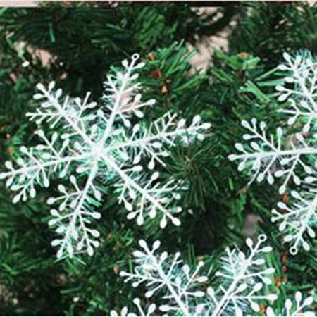 Christmas Tree Decorations Snowflake Ornament Plastic Snowflake Sheets - image 5 of 5